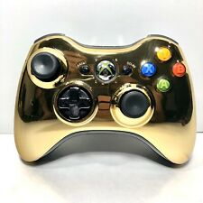 Xbox 360 Wireless Controller - SPECIAL EDITION CHROME GOLD (BARELY USED)