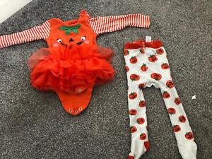 6-9 Months Girls Halloween Outfit Pumpkin Costume 🎃
