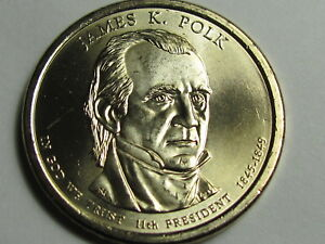 Polk Presidential $1 Dollar 25 Coin Roll Uncirculated Details about  /2009 P James K