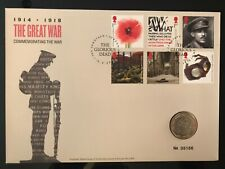 More details for 2018 royal mail mint the great war armistice two 2 pound £2 coin cover fdc pnc