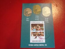 CENTRAL AMERICA - 1976 OLYMPIC BOXING - MINISHEET - UNMOUNTED USED MINIATURE