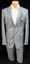 New Men's Grey Caravelli Slim Fit Suit Jacket with Pants 38 Long 36 Waist