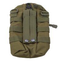 Tactical Molle Zipper High Capacity Water Bottle Pouch Bag Small Mess Pouch EG
