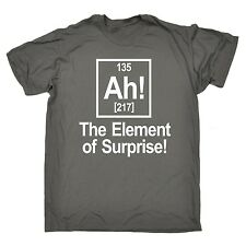 Ah The Element Of Surprise T-SHIRT chemistry geek funny birthday gift present