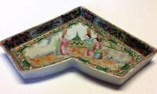 Antique Chinese Famille Rose Sweetmeat Plate Tray Lazy Susan Ceramic Pink Green