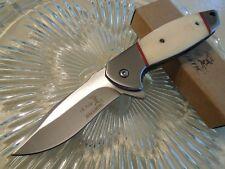 Couteau de Chasse Elk Ridge A/O Lame Acier Inox Manche Os ERA163BN