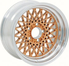 """16"""" X 8"""" Gold GTA Style Alloy Wheel with 4-3/4"""" Backspacing and 0mm Offset"""