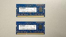 4GB (2x2GB) Elpida EBJ20UF8BDU0-GN-F PC3-12800S 1600MHz DDR3 Portátil Ram 204pin