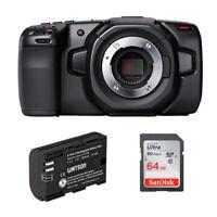 Blackmagic Design Pocket Cinema Camera 4K w/ Lithium-Ion Battery and 64GB Memory