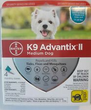 Bayer K9 Advantix Ii Medium Dog 11-20lb Flea Treatment Control 4 Monthly Doses