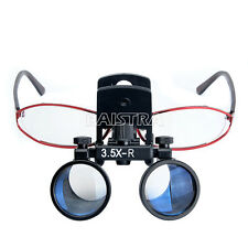 3.5X Dental Binocular Medical Surgical Glasses Loupes Magnifier Clip Mobile IT