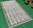 Turkish Rug 44''x81'' Vintage Muted Color Oriental Rug Wool Carpet 114x207cm