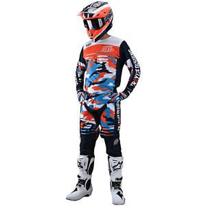 Troy Lee Designs Gear Combo Set TLD MX Motocross Atv GP Pants Jersey CAMO NAVY