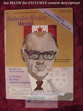 Saturday Review November 2 1974 MONTREAL CANADA JEAN DRAPEAU CYPRUS