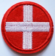 HOT SALE! WHITE CROSS ON RED CIRCLE Switzerland Iron On patch Applique Nurse