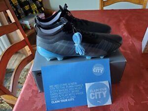 Puma One 5.1 City FG-AG Soccer Cleats  - Black/sky blue