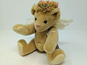 """Vermont Teddy Bear with Rose Bouquet Feather Wings 12"""""""