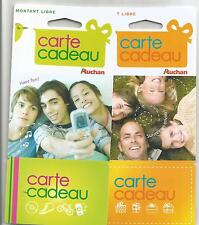 4 Auchan store gift cards