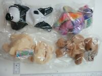 """Kellytoy 90's Beanpals Lot of 4 Plush 8"""" With Tags Free Shipping"""