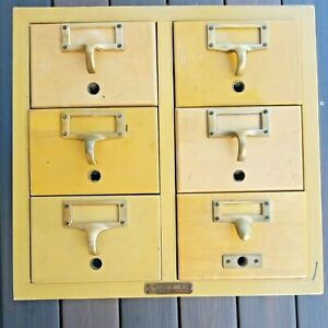 Vintage Gaylord Bros 6 Drawer Library Card Catalog