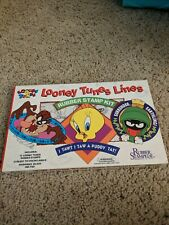 Looney Tunes Deluxe Rubber Stamp Kit Set 12 Stamps Vintage 1995 New