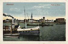 10396/ Foto AK, Düsseldorf, Partie am Rhein, Dampfer Düssel, 1915