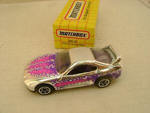 1995 MATCHBOX SUPERFAST MB 30 CHROME TOYOTA SUPRA NEW IN BOX