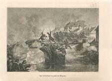 1859 Grenadiers de la garde au pont de Magenta Italie Napoléon III GRAVURE 1883