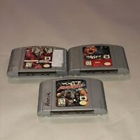 Nintendo 64 3 Game Wrestling Lot Tested WCW NWO WWF ECW Revenge Attitude N64