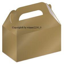 8 Box Premium Gloss GOLD Wedding Party Bomboniere Favour Candy SMALL Gable 8x7cm
