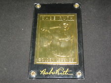 BABE RUTH YANKEES LEGEND GENUINE LIMITED EDITION GOLD BASEBALL CARD IN CASE #'D