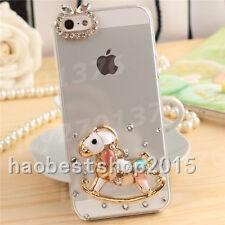 Handmade Glitter Luxury Bling Diamond Soft Gel Rubber back Phone Cover Case #J
