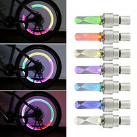 Colorful LED Valve Stem Bicycle Wheel Tire Cap Flash Tyre Wheel Light Lamp  RD85