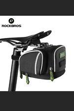 Rockbros Bicycle Saddle Bag With Rain Cover Rainproof Road Mountain Bike Rear...