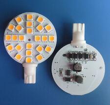10pcs T10 W5W 194 LED Car Bulb 24-5050 Cabinet Light 3W 12-24V Warm White TY