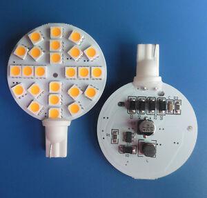 10x T10 W5W 921 194 24-5050SMD LED Car Cabinet Light Warm WhiteAC/DC12-24V #TY