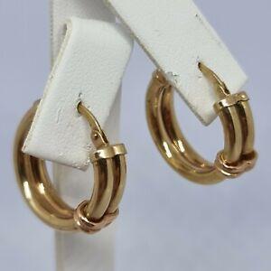 9ct Yellow Gold Hoop Earrings Hallmarked