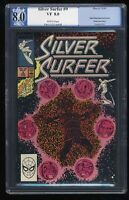 Silver Surfer (1987) #9 PGX VF 8.0 White Pages