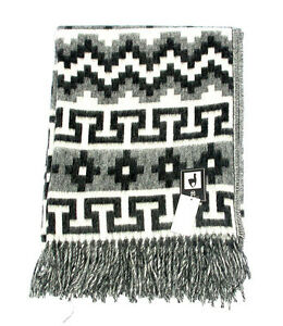 """Breathable 5""""x 7"""" Throw Two Tone Fair Trade Brushed Alpaca Wool Blanket 2 Pack"""