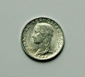 1961 BP HUNGARY Coin - 5 Filler - AU toned-lustre - Hungarian girl