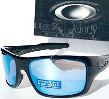 c7ba9772981 NEW  Oakley TURBINE BLACK POLARIZED DEEP WATER BLUE H20 PRIZM Sunglass 9263 -14