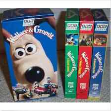 NIP WALLACE & GROMIT BBC Video Boxed 3 VHS Set Sealed  Claymation Chicken Run