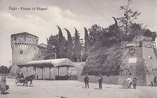 8506) LUGO RAVENNA PIAZZA 13 GIUGNO CON LA TETTOIA CALESSE.