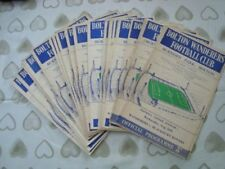 Bolton Wanderers Home Team Football Programme Collections/Bulk Lots