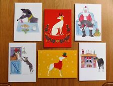 Tia Greyhound Dog Rescue Charity Christmas cards. Pack of 6 different designs