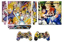 Skin Sticker Cover PS3 PlayStation 3 Slim & 2 controller skins Dragon Ball Q272