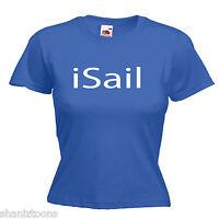 Sail Sailor Ladies Lady Fit T Shirt Size 6 -16