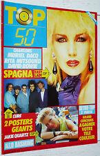 TOP 50 N°27 1986 POSTER THE CURE JACKIE QUARTZ / SPAGNA RITA MITSOUKO BASHUNG