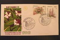 MONACO PREMIER JOUR FDC YVERT  1462+1466  PLANTES MERCANTOUR    4+2,10F     1985
