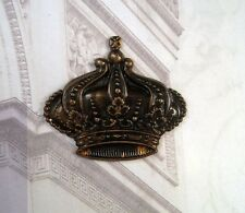 Large Antique Brass Crown Stamping (1) - ANTFF3819 Jewelry Finding